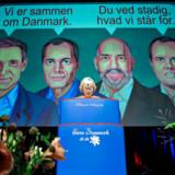 »Du ved stadig, hvad vi står for.« Sådan lyder budskabet i en nylig annonce fra Dansk Folkeparti, der her ses som bagtæppe under partiets årsmøde i Herning Kongrescenter i september. På billedet er det tidligere partiformand og nuværende formand for Folketinget Pia Kjærsgaard, der er på talerstolen.