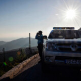 Portugisiske betjente på opgave i Grækenland i forbindelse med Frontex-samarbejdet, som Emmanuel Macron vil styrke. Men ikke nok med det. Den franske præsident foreslår også at oprette et fælles europæisk asylkontor.