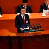 Kinas premierminister Li Keqiang siger, at den asiatiske stormagt står overfor nogle hårde økonomiske udfordringer. Foto: AFP/Wang Zhao/Ritzau Scanpix