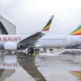 Et Ethiopian Airlines Boeing 737 Max 8 - eller med andre ord den samme type fly som det, der søndag styrtede ned under en flyvning fra Addis Abeba til Nairobi i Kenya. Her fotograferet i Bole International Airport i den etiopiske hovedstad, juli 2018.