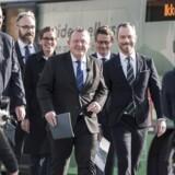 Statsminister Lars Løkke Rasmussen præsenterer sammen med store dele af sin regering klimaudspillet »Sammen om en grønnere fremtid« på havnefronten i København 9. oktober 2018.