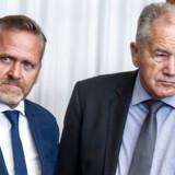 Liberal Alliances formand Anders Samuelsen (LA) og landsformand Leif Mikkelsen (LA).
