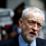 Britain's opposition Labour Party leader Jeremy Corbyn speaks to the media outside New Zealand House, following Christchurch mosque attack in New Zealand, in London, Britain March 15, 2019. REUTERS/Henry Nicholls