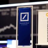 ER Deutsche Bank og Commerzbank på vej mod tvangsægteskab? Foto: Reuters/Kai Pfaffenbach/Ritzau Scanpix