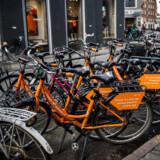 De orange cykler fra virksomheden »Donkey Republic,« har vundet et udbud i Aarhus Kommune og er dermed den officielle bycykel i Smilets By.