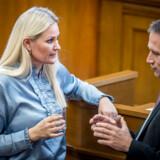 Britt Bager ønskede tirsdag inden Venstres gruppemøde ikke at svare på spørgsmål om sagen, hvor en selskabsejer donerede i alt 100.000 kroner anonymt til hende.