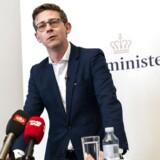 Skatteminister Karsten Lauritzen ved pressemøde, hvor han blandt andet fortalte om, hvordan det går med at føre de mange sager om uberettiget refusion af udbytter. Lige nu ser regeringen ud til at få mellem 5,5 og seks mia. kr. retur til statskassen.