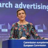 Konkurrencekommissær Margrethe Vestager har endnu en gang idømt Goolge en milliardbøde. Foto: Yves Herman/Ritzau Scanpix