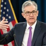 Denne mand - den amerikanske centralbankchef Jerome Powell - kan være med til at sende aktier på en nedtur. Foto: AFP/Saul Loeb/Ritzau Scanpix