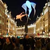 Den eksperimenterende kunst lever også udendørs i Londons centrum.
