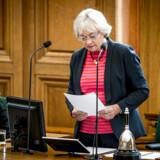 Johanne Schmidt-Nielsen (EL) mener ikke, at Pia Kjærsgaard (DF) er dygtig nok til at varetage sit job som Folketingets Formand.