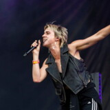 epa06948030 Danish singer and songwriter Karen Marie Aagaard Orsted Andersen, known by her stage name MO, performs at the 26th Sziget (Island) Festival on Shipyard Island, Northern Budapest, Hungary, 13 August 2018. The Sziget Festival is one of the biggest cultural events of Europe offering art exhibitions, theatrical and circus performances and above all music concerts. The festival runs between 08 and 15 August. EPA/Marton Monus HUNGARY OUT