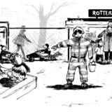I en rapport fra Rambøll står der blandt andet, at 57 pædagoger i gennemsnit brugte over 60 procent af deres tid på børnene. Tegning: Henrik Kiær