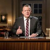 (ARKIV) Lars Løkke Rasmussen holder nytårstale i Statsministeriet 1. januar 2017.