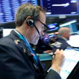 Aktiemarkedet tager en slapper tirsdag efter flere dages store udsving. Foto: AFP/Spencer Platt/Getty Images/Ritzau Scanpix