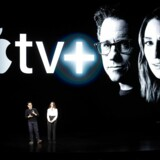 Apple har lanceret en ny TV-streamingtjenste – Apple TV+ –men ingen ved, hvad den kommer til at koste. Foto: Noah Berger/AFP/Ritzau Scanpix