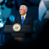 Arkivfoto. Mike Pence under National Space Council's første måde, 5. oktober 2017.