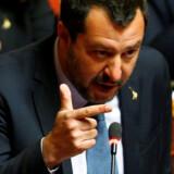 Italiens indenrigsminister, Matteo Salvini, sender en besked til migranterne på det kaprede skib: Glem alt om at komme til Italien. (Arkivfoto). Yara Nardi/Reuters