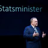 Statsminister Lars Løkke Rasmussen taler på konferencen Arena Summit 2019 med fokus på tendenser i samfundet nu og i fremtiden torsdag den 28. marts 2019.. (Foto: Liselotte Sabroe/Ritzau Scanpix)