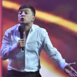 41-årige Volodjmir Selenskij er en kendt komiker i Ukraine. Han opsamler en del af vreden i Ukraine over korruption og lav levestandard. Sergei Supinsky/Ritzau Scanpix
