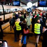 På mandag kan morgentrafikken igen blive lammet af arbejdsnedlæggelse blandt DSB-ansatte. Foto: Kristoffer Juel Poulsen/Ritzau Scanpix