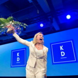 Kristdemokraternas partileder Ebba Busch Thor overskygger alt og alle i blå blok, og hun er siden riksdagsvalget i september blevet den helt overraskende politiske stjerne i svensk politik.