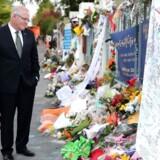 Australiens premierminister Scott Morrison besøgte sammen med sin kone Jenny Al Noor moskéen i Christchurch sidst i marts for at vise ofrene for terrorangrebet respekt.