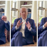 Klip fra video, hvor USA's tidligere vicepræsident Joe Biden siger, at han ikke foretog sig noget upassende over for fire kvinder, der anklager ham for krækende adfærd. Handout./Reuters