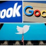 Facebook, Google og Twitter vil sammen med andre sociale medier stå til både kæmpe bøder og udsigt til lange fængselsstraffe, hvis de ikke fra nu af sikrer, at voldeligt indhold, som folk lægger op, øjeblikkeligt bliver fjernet – en opgave, som der endnu ikke er en løsning på. Arkivfoto: Reuters/Ritzau Scanpix
