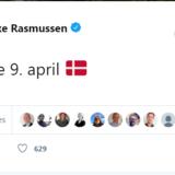 Screenshot fra Lars Løkkes Twitter-profil