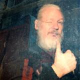 Assange landede torsdag i et britisk salatfad efter at have skjult sig på Ecuadors ambassade i mere end syv år.