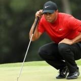 Tiger Woods, da han gjorde sig klar til et af de sidste slag.