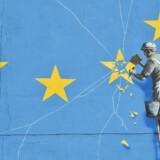 Vægmaleri i Dover af den britiske kunstner, Banksy.
