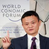 Arkivfoto: Jack Ma ved World Economic Forum i Davos i januar i år. Han er medstifter af Alibaba og betegnes ifølge Forbes som Kinas rigeste mand.