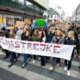 Hvorfor ikke forene det nyttige med det praktiske? Medbringende økologiske poser kunne de klima-demonstrerende unge samle det skidt op, de forreste smider væk, skriver Holger Overgaard Andersen.
