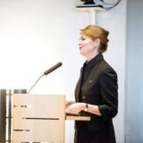 Lise Kingo blev kaldt »Mother Theresa« og »ypperstepræstinden« af sine meddirektionskolleger i Novo Nordisk. Her taler hun som administrerende direktør for FNs Global Compact ved en konference i december 2017.