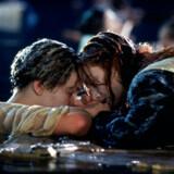 Foto af Leonardo DiCaprio og Kate Winslet fra filmen Titanic, 1997.