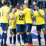 Jens Martin Gammelby scorede Brøndby sejrsmål i Herning. Henning Bagger/Ritzau Scanpix