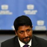 Sri Lankas forsvarsminister Ruwan Wijewardene fortalte på et pressemøde, at der vil følge yderligere arrestationer. Foto: Iahara S. Kodikara/AFP/Ritzau Scanpix