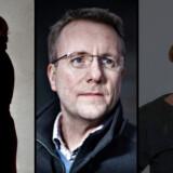 Et politisk flertal ønsker strengere straffe for trusler mod politikere og debatterer. Her ses Mette Abildgaard (K), Morten Bødskov (S) samt udlændingeminister Inger Støjberg (V), der alle har oplevet at modtage trusler.