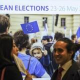 »EU-debatten vil drukne i kampen om opmærksomheden, hvis der holdes to valg 26. maj,« skriver Christel Schaldemose. Foto: EPA/OLIVIER HOSLET/Ritzau Scanpix.