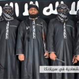 »Efterretningstjenesterne fortæller, at Zahran Hashim (m) blev dræbt under angrebet på hotel Shangri-La«, siger præsident Maithripala Sirisena på et pressemøde.