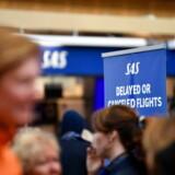 Passagerer er strandede i Arlanda Lufthavn i Stockholm på grund af piloternes strejke.