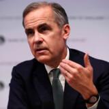 Den britiske centralbankchef Mark Carney er blevet rost for at styre stabilt gennem politisk og økonomisk uro omkring Brexit, men også kritiseret for at spå om negative konsekvenser af Brexit. Her taler han på en pressekonference i februar 2019, hvor han advarede om, at britisk økonomi ikke var klar til at forlade EU uden en aftale. Arkivfoto: Hannah McKay/AFP/Ritzau Scanpix