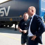 Transportkoncernen DSV 's administrerende direktør, Jens Bjørn Andersen, glæder sig over de regnskabsmæssige bedrifter i første kvartal.
