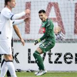 Sønderjyskes målmand Lukas Fernandes kan få ny kollega fra Bayern München. Henning Bagger/Ritzau Scanpix