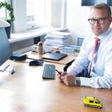 Adm. direktør i Falck Jakob Riis skal formentlig have det store checkhæfte frem, når der skal betales kompensation til Bios, Region Syddanmark og de mange andre, der har lidt tab som følge af Falcks skyggekrig mod det hollandske selskab.