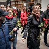 Formand for Socialdemokratiet Mette Frederiksen startede fredag d. 10.05 2019 sin valgkamp. Første stop: Aalborg Katedralskole og roseuddeling på gågaden.