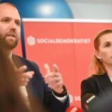 Herlevs borgmester Thomas Gyldal og Mette Frederiksen fra Socialdemokratiet præsenterer velfærdsudspil i Learning Lab i Herlev.