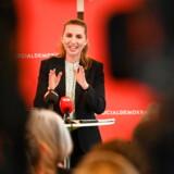 Thomas Gyldal (S), borgmester i Herlev, og Socialdemokratiets Mette Frederiksen præsenterede mandag middag et velfærdsudspil i Learning Lab Herlev.